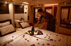 Business Vs First Class Airplane Cabin